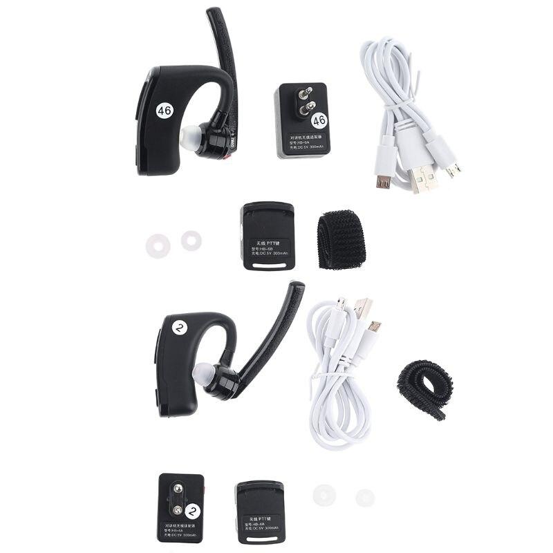 Walkie Talkie Bluetooth PTT auricular auriculares con micro inalámbricos adaptador para UV-82