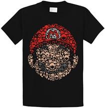 Super Mario Bros Mashup camiseta superior de seta Kingdom Lugi Nintendo Geek italiano Simple empalme camisetas Harajuku
