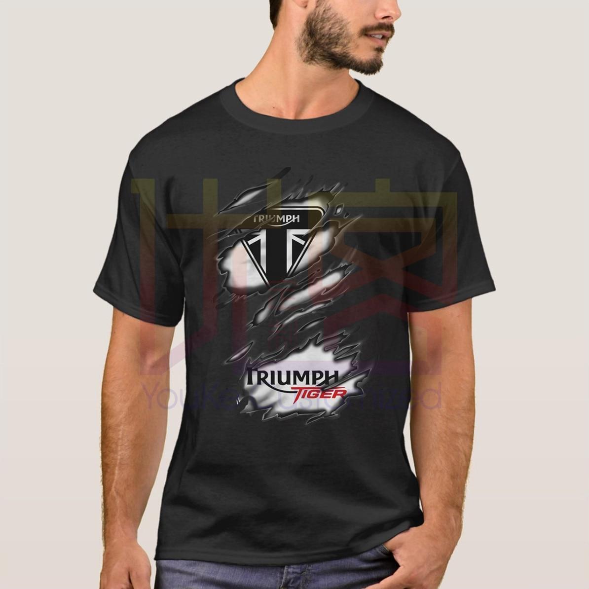 Camiseta 2019 a la moda para hombre, camiseta Popular Ra Triumph Tiger, Camiseta de algodón con cuello redondo 100%