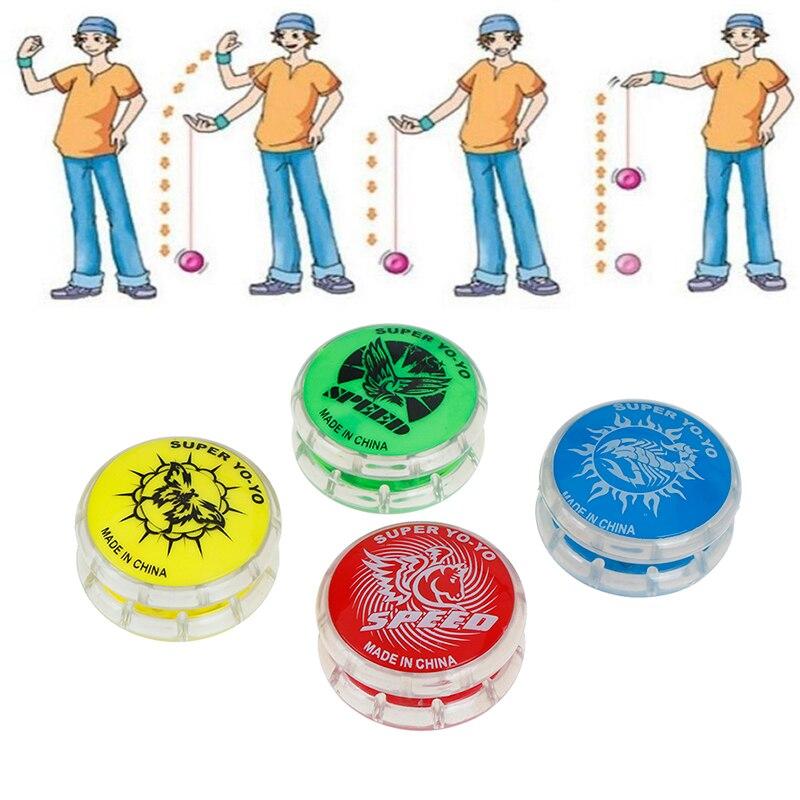 Magia bola Yoyo juguetes para niños de plástico de colores fácil de llevar a Yo-yo fiesta juguete niño clásico divertido bola Yoyo juguetes regalo