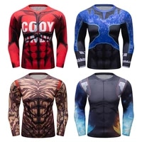 gym fitness compression t shirt men long sleeve jogging running sweatshirt exercise sport t shirt tight quick dry workout shirt