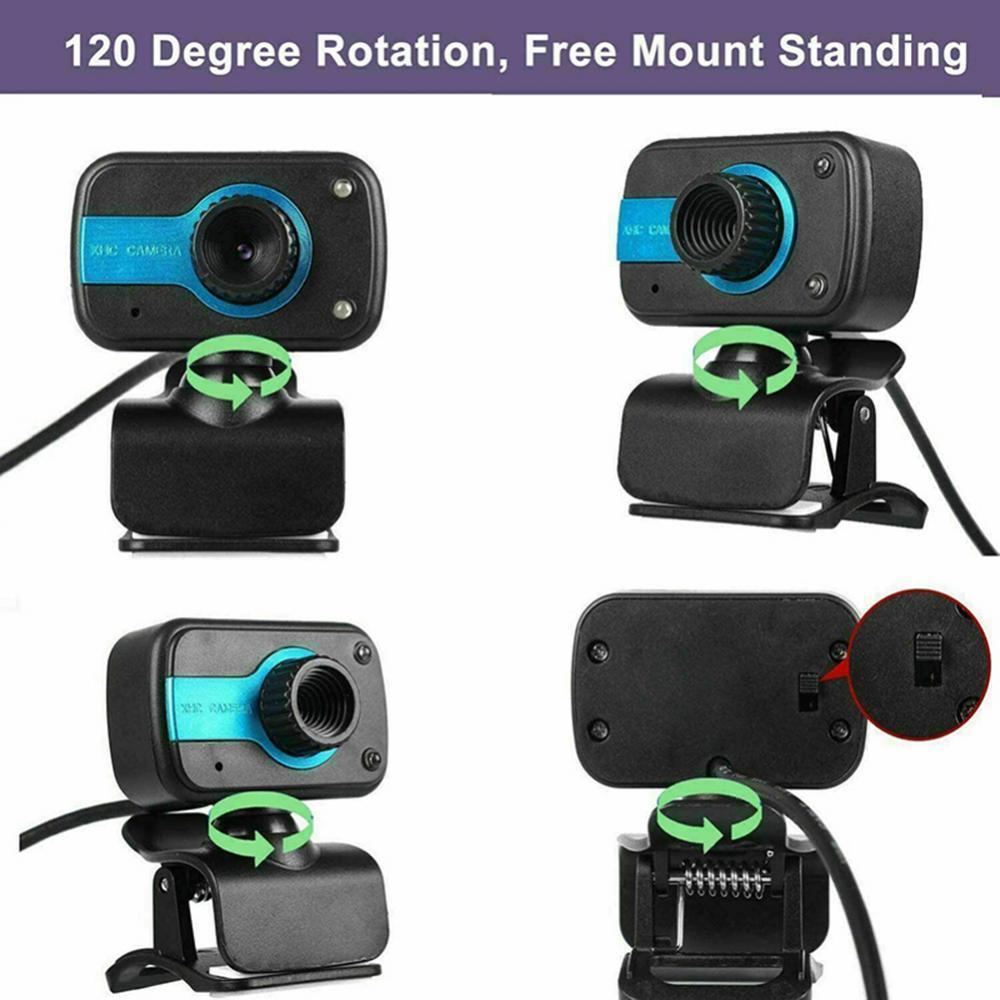 HD веб-камера мини-компьютер ПК веб-камера с микрофоном вращающиеся камеры для прямой трансляции видео вызова конференц-связи