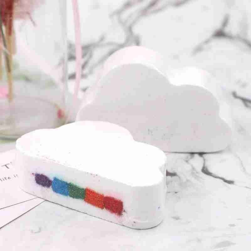 купить Rainbow Soap Cloud Bath Salt SPA Bath Bombs Bath Salt Soap Moisturizing Natural Oils Bath Fizzy Exfoliating Cleaning Body Skin в интернет-магазине