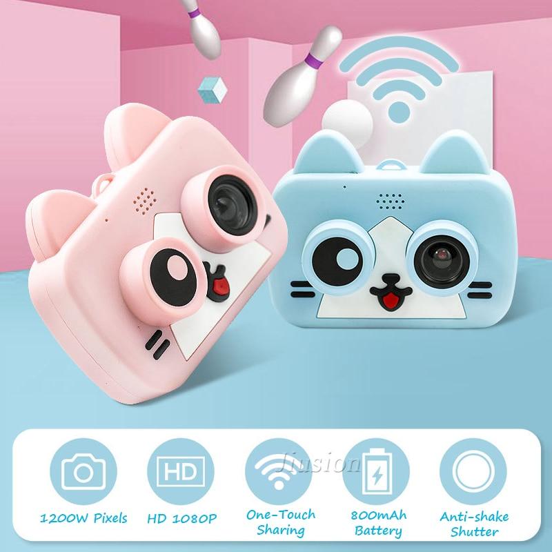 كاميرا رقمية صغيرة واي فاي ألعاب تعليمية للأطفال كاميرا فيديو كاميرا صغيرة كاميرا عيد الميلاد هدية عيد ميلاد الأمن مايكرو كامارا