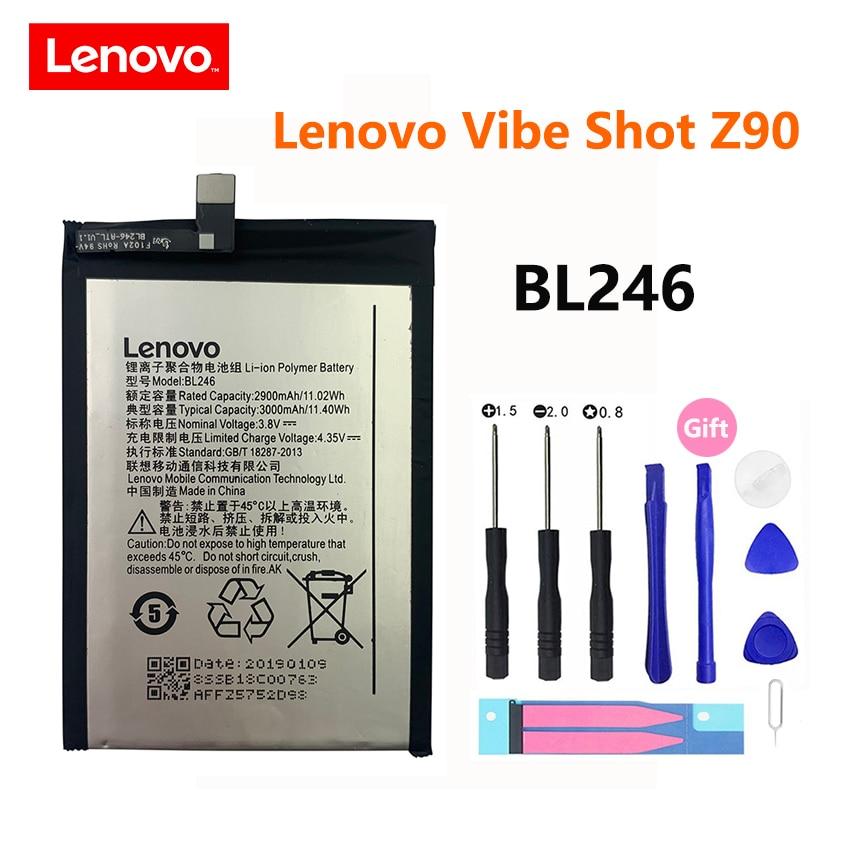 100% Original nuevo batería para Lenovo Vibe Shot Z90 BL246 Z90A40 Z90-7...
