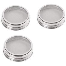 Best Set Of 3 Stainless Steel Sprouting Jar Lid Kit For Superb Ventilation Fit For Wide Mouth Mason Jars Canning Jars For Makin