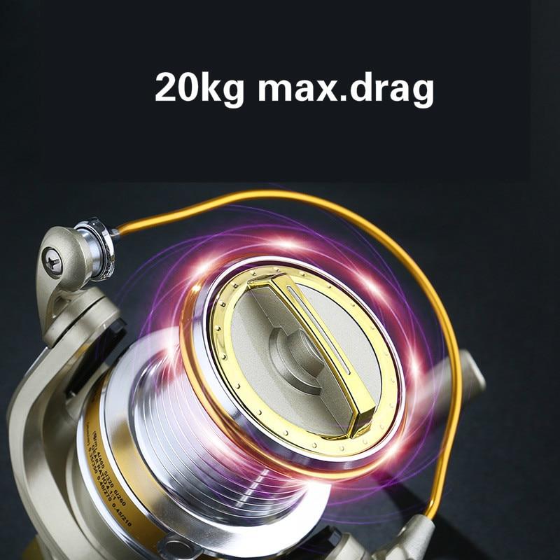 8000s 10000s Spinning Reel 20KG Max Drag 4.1:1 Gear Ratio Freshwater Saltwater Rock Fishing Coil Anchor Trolling Wheel De Pesca enlarge