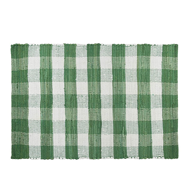 Alfombras de cuadros de algodón lavables, alfombra a cuadros Felpudo de bienvenida alfombra para cocina alfombra de baño porche exterior sala de estar