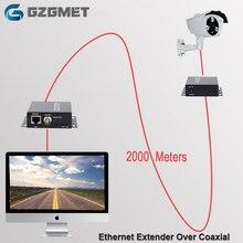 2km Ethernet Extender Über IP Koaxial Netzwerk Extender 1080p Video Converter Sender Empfänger Unterstützung HIKVISION Dahua