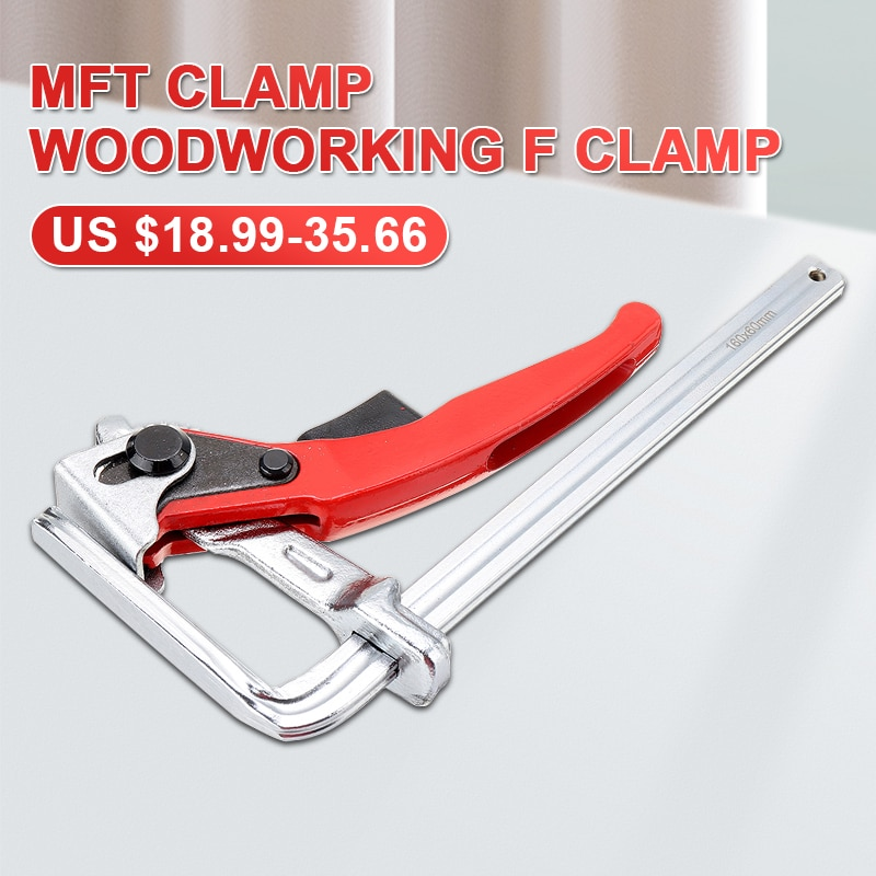 1PC/2PCS Quick Guide Rail Clamp Carpenter F Clamp Quick Clamping for MFT and Guide Rail System  Hand Tool Woodworking DIY