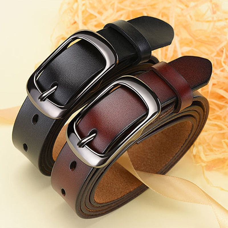 Cowhide ladies belt leisure all-match Korean leather women jeans