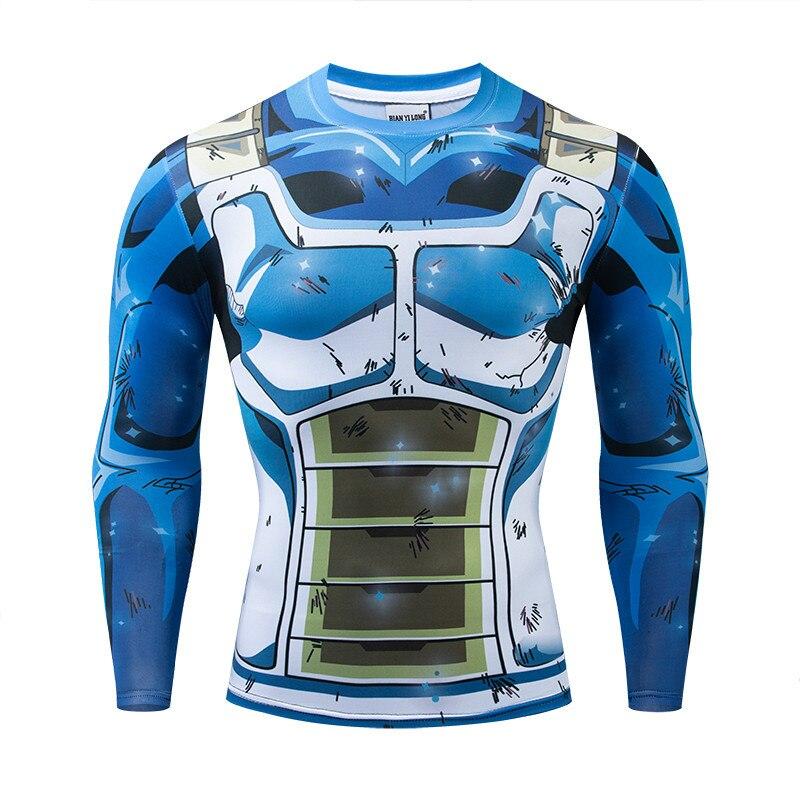 Dragon Ball Cosplay 3D Compression T-Shirt Männer Langarm Slim Fitness T-shirt Männlichen Fitness T Hemd Homme Lauf Enge Tops
