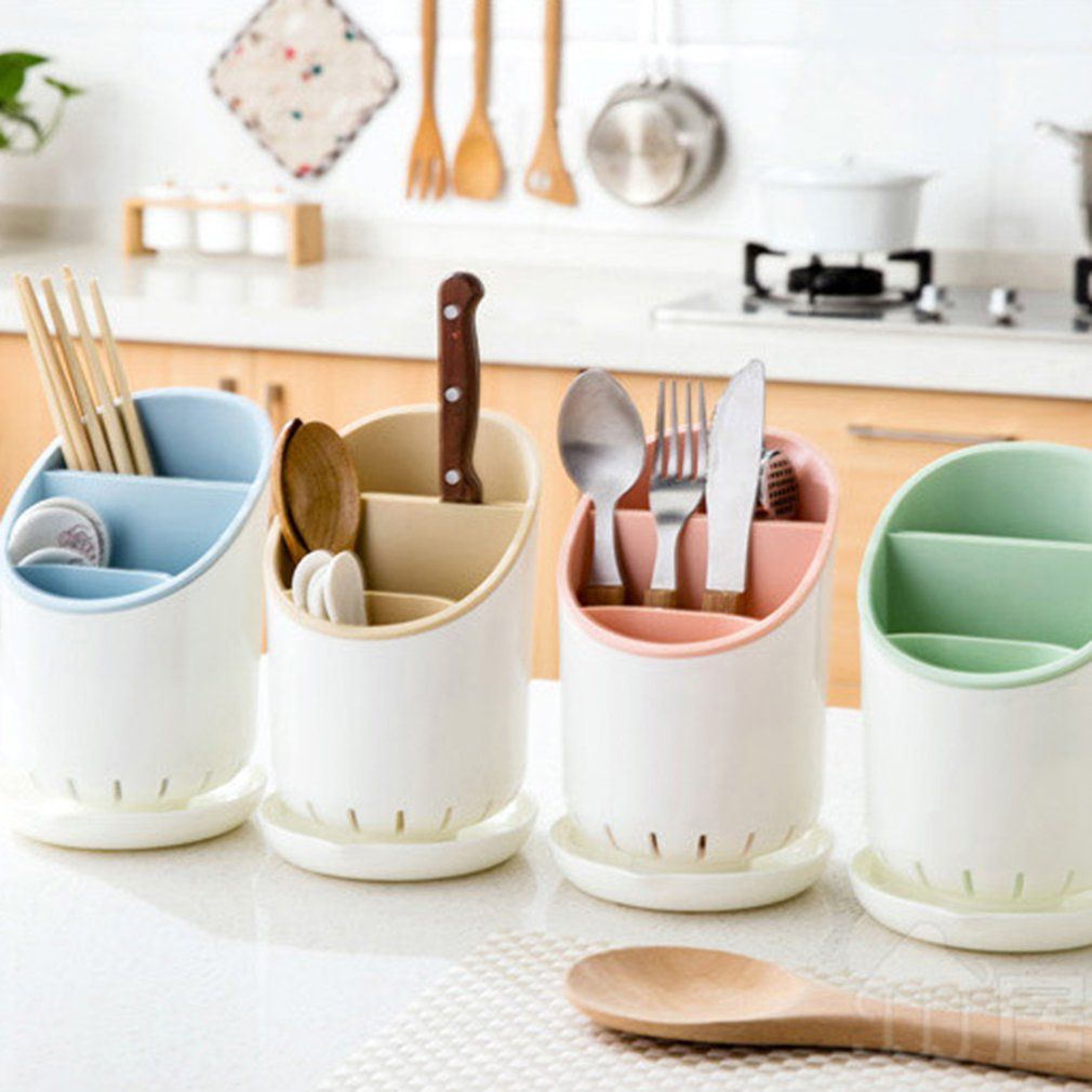 Novo plástico dreno pauzinhos rack colher rack pauzinhos gaiola multifuncional cozinha utensílios de cozinha rack armazenamento pauzinhos tubo