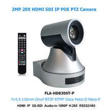 PTZ-камера для видеоконференции с 20-кратным зумом, IP-камера POE для прямой трансляции с выходами HDMI SDI