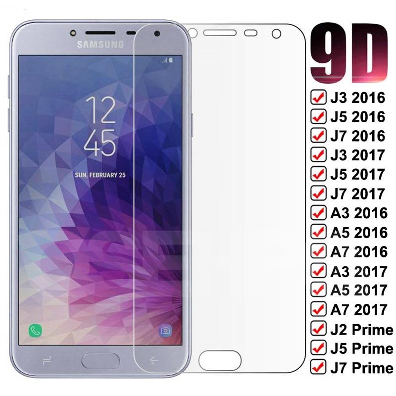 9D szkło ochronne do Samsung Galaxy A3 A5 A7 J3 J5 J7 2016 2017 J2 J4 J7 rdzeń J5 Prime S7 hartowane szkło hartowane