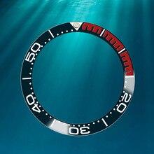 38mm montre en céramique lunette insérer des accessoires pour Omega Haima montre mécanique série diamètre intérieur cadran numérique montres visages