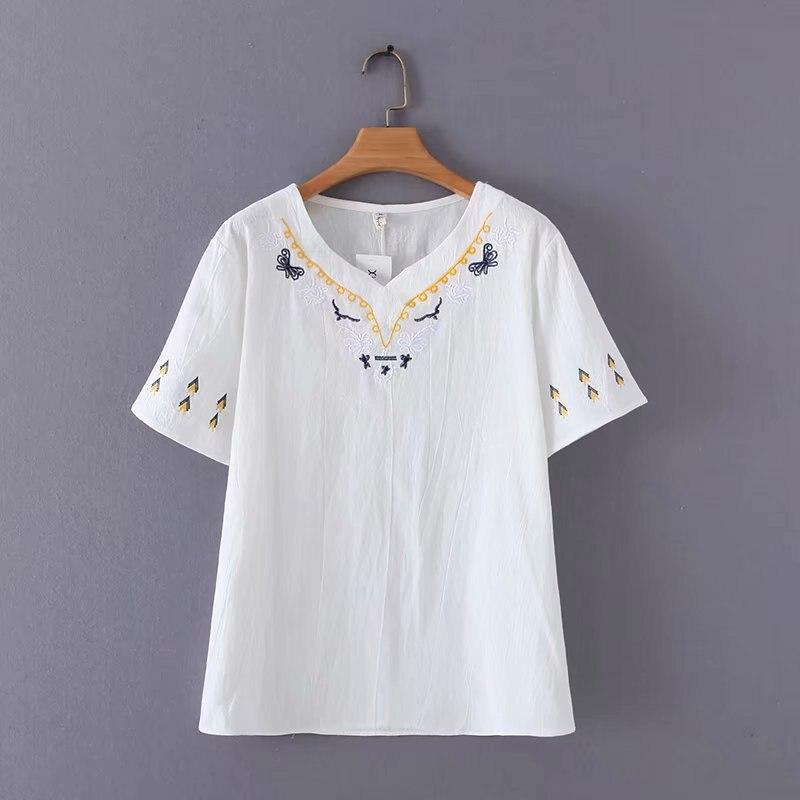 Camiseta femenina suelta con estampado de camisa gris Harajuku japonés Tumblr informal para mujer