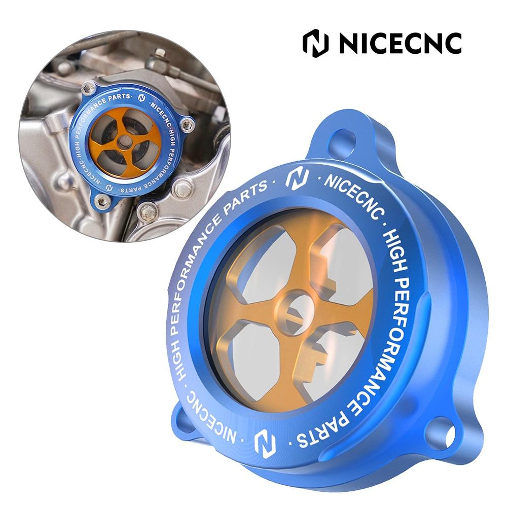 NICECNC ATV Engine Oil Filter Clear Cover For Yamaha Raptor 700 YFM700 2013 2015-2019 YFM700R 2014 700R YFM700R 2009 2011-2019