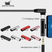 Dual Adapter Splitter 2 in 1 USB Typ C zu 3,5mm Stecker für Xiaomi Huawei JMG Tragbare Ladegerät Audio kopfhörer Adapter