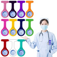Electronics Pocket Watches Silicone Nurse Watch Brooch Pins Unisex Watches Clock Free Battery Watch