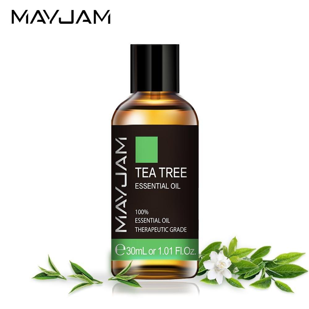 30ml Natural Tea Tree Essential Oil Diffuser Pure Sandalwood Essential Oils Vanilla Mint Patchouli Bergamot Eucalyptus Aroma Oil недорого