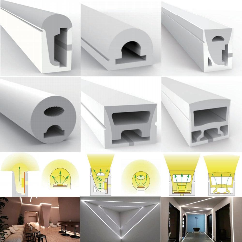WS2812B WS2811 WS2813 WS2815 5050 LED Neon Rope Tube Silicone Gel Flexible Strip Light Soft Lamp Tube IP67 Waterproof