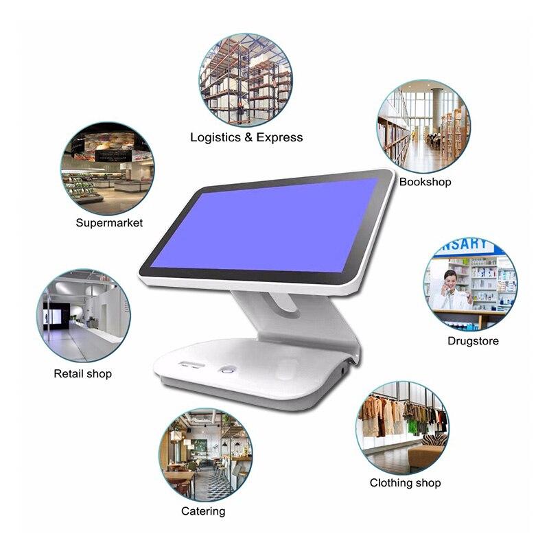 windows pc 15 inch cash register pos system machine J3710 CPU 4GB RAM 64GB SSD LED Singel Touch Screen retail POS Terminal enlarge