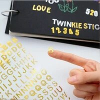 1sheetpack hot stamping numbers english letters hand ledger sticker scrapbooking sticker