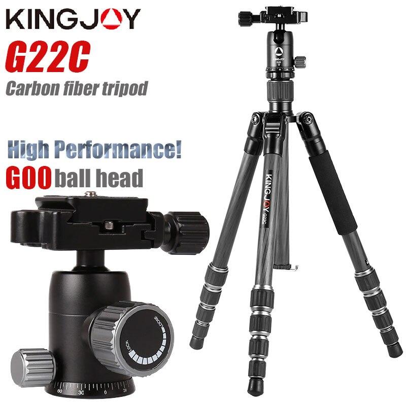 Профессиональный штатив KINGJOY G22C из углеродного волокна для цифровой камеры, штатив подходит для путешествий, подставка для камеры высшего к...