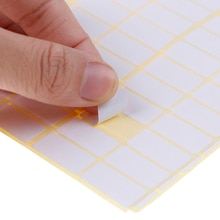 1680 pces um lote 10*20mm branco em branco etiqueta etiquetas de papel pequeno adesivo etiqueta adesivos graváveis nota etiqueta artesanato novo Adesivos    -