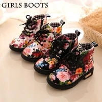 girls boots childrens martin boots childrens cotton shoes printed floral martin boots plus hair snow boots toddler girl boots