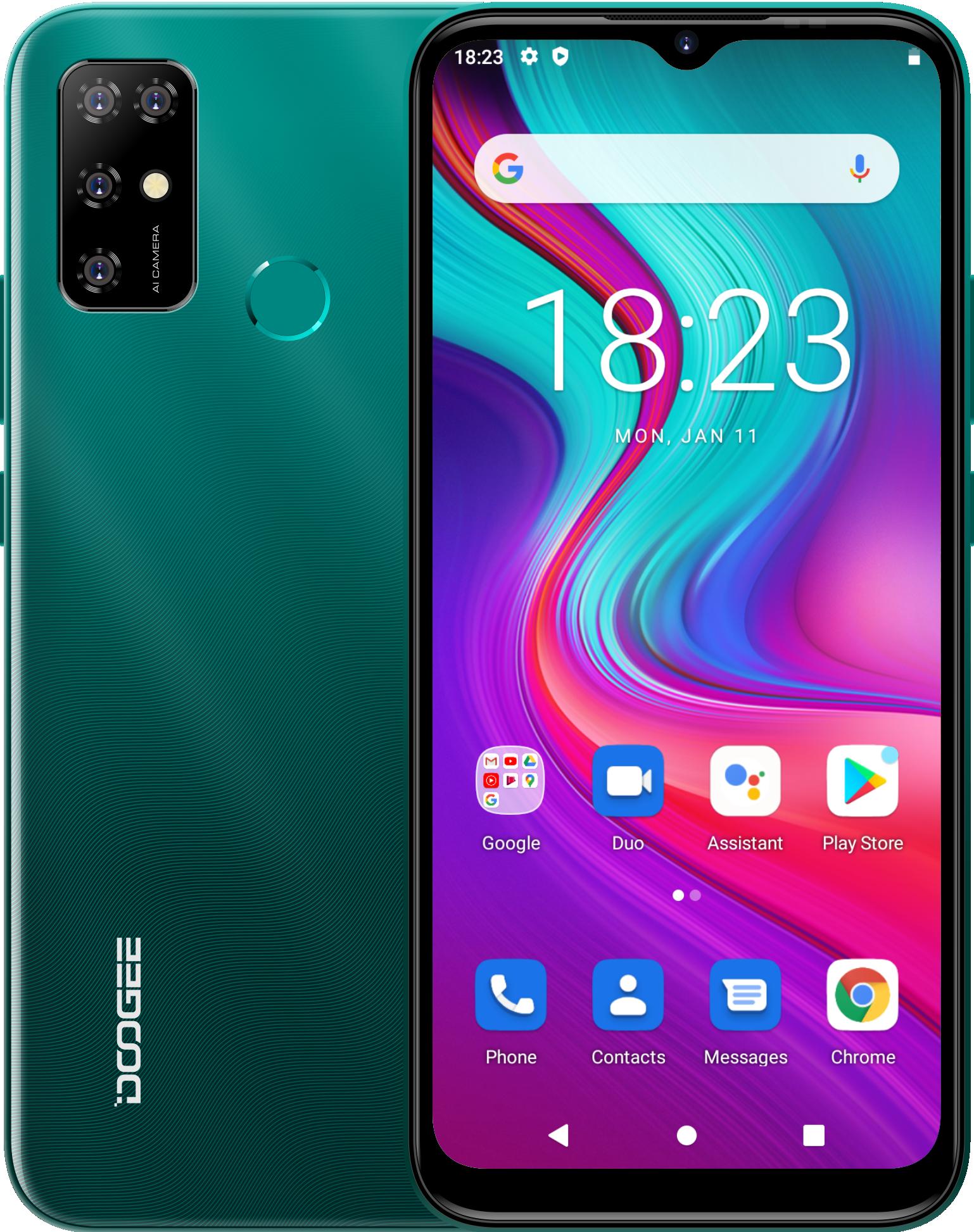 Перейти на Алиэкспресс и купить Android 11 смартфоны 4 ГБ ОЗУ 64 Гб ПЗУ Восьмиядерный сотовые телефоны 13 МП Quad Camera мобильный телефон 5400 мАч 2021 Новый DOOGEE X96 Pro