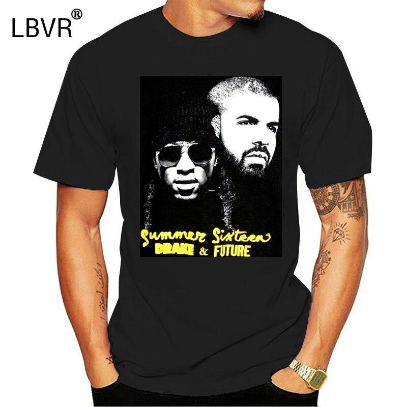2016 г. Летняя хлопковая Футболка в стиле хип-хоп DRAKE FUTURE SIXTEEN TOUR MERCH черного и желтого цвета модная футболка Топ-футболка