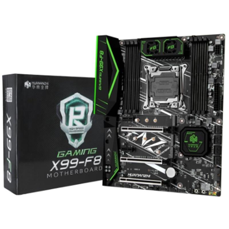 HUANANZHI X99-F8 Gaming Motherboard for Intel X99 LGA2011-3 All Series DDR4 RECC 128GB M.2 NVME USB3.0 ATX Server Mainboard Beyo