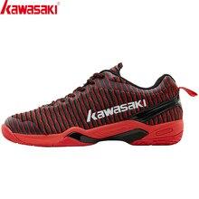 Kawasaki Badminton chaussures hommes respirant maille sport baskets anti-dérapant confortable noir chaussures K-525