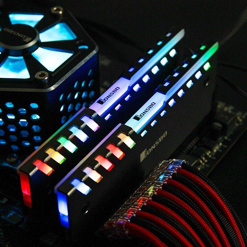 2 قطعة Jonsbo NC-2 اللون التلقائي تغيير سطح المكتب RAM الذاكرة تبريد سترة الألومنيوم برودة سترات