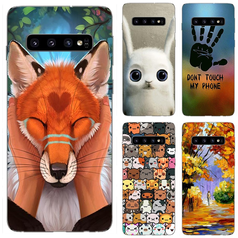 For Samsung Galaxy S10 S9 S8 Plus Case Silicon Cover for Samsung Galaxy S6 S7 Edge Plus Case Cover f