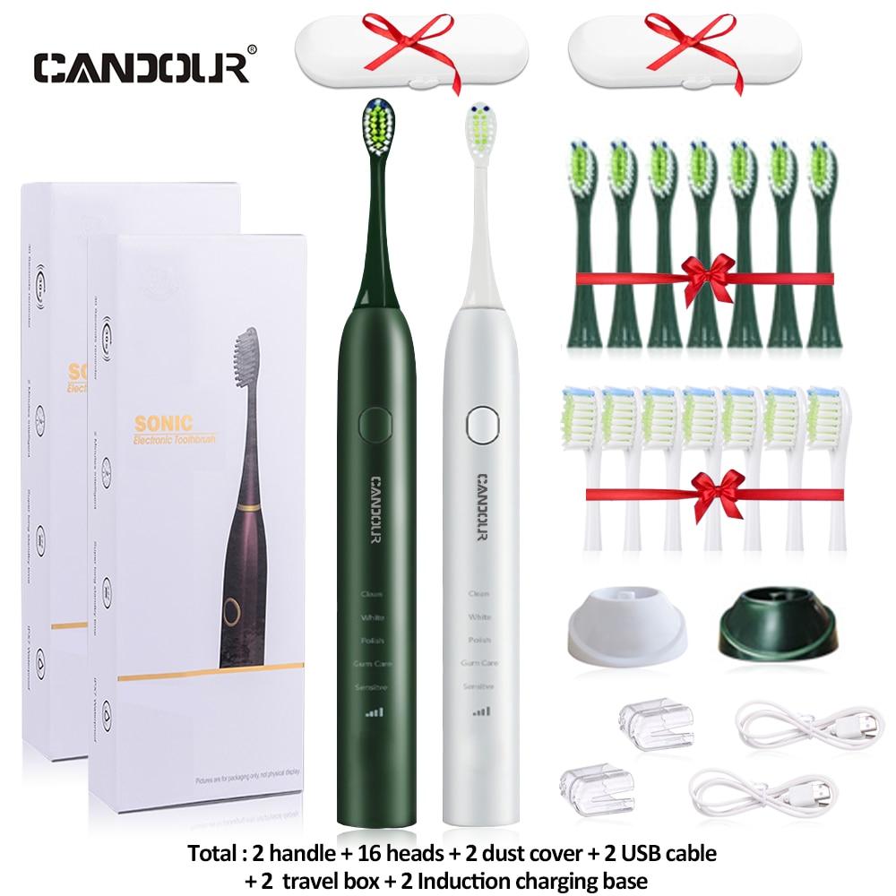 Candour Sonic Elektrische Tandenborstel Oplaadbare Tandenborstel Automatische Oplaadbare Sonic Elektrische Tandenborstel enlarge