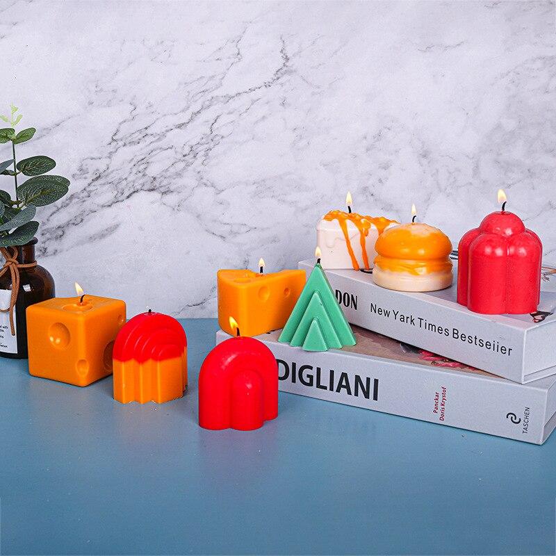 Силиконовая форма в форме сыра в форме свечи, Ароматизированная искусственная форма для мыла, шоколада, аксессуары для украшения выпечки