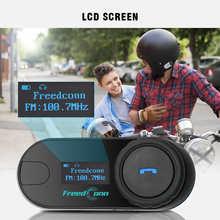 FreedConn TCOM-SC 800M Motorcycle Bluetooth Helmet Bluetooth Intercom Headset Interphone Headphone with LCD Screen