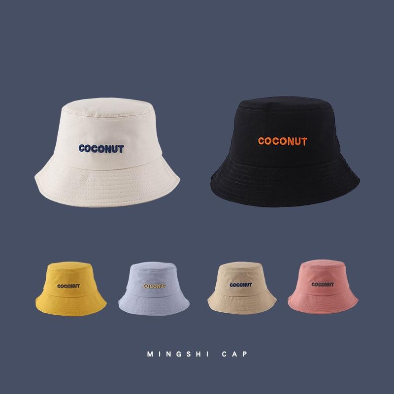 Панама с вышитыми буквами в новом стиле, корейская модная Повседневная Панама для рыбалки, модная шапка для мужчин и женщин