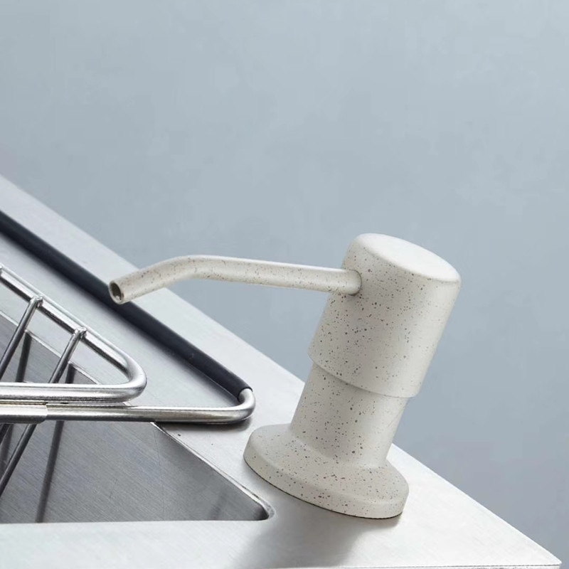 WZLY ماكينة توزيع صابون اليد سطح جبل أبيض/بيج الصابون موزع بالوعة المطبخ السائل الصابون موزع زجاجة