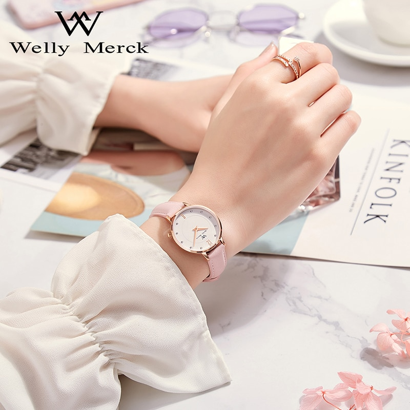 Welly Merck Swiss Quartz Wristwatches Luxury Sapphire Crystal Women's Watch 5ATM Waterproof Ladies Watch Relogio Feminino enlarge