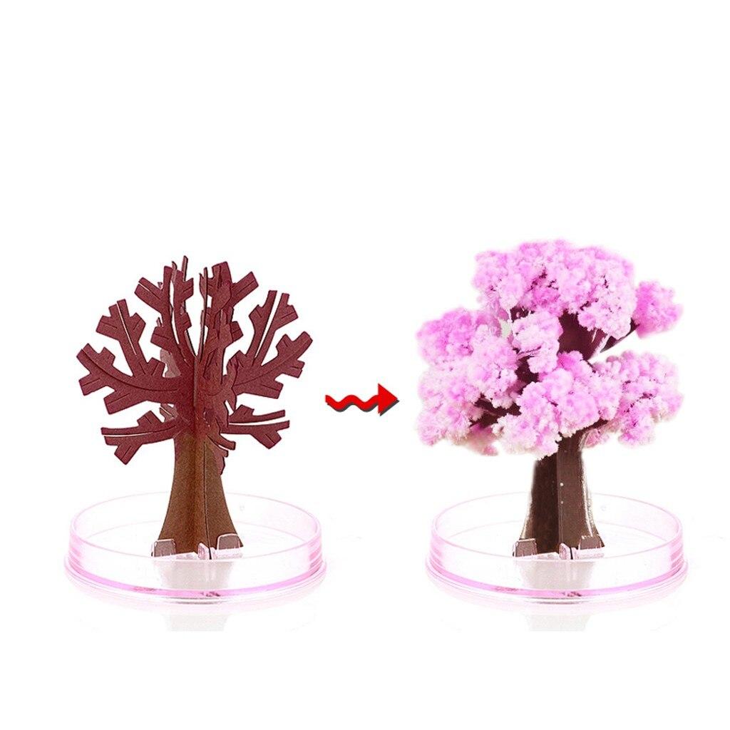 Navidad regalo de árbol de papel DIY árbol mágico árbol creciente juguete niños niñas novedad regalo de Navidad de etiquetas de papel de Scrapbooking