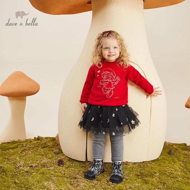 DBM17470 dave bella Зимний Рождественский мультяшный вязаный свитер для маленьких девочек модные детские бутиковые топы для малышей|Свитера| | АлиЭкспресс