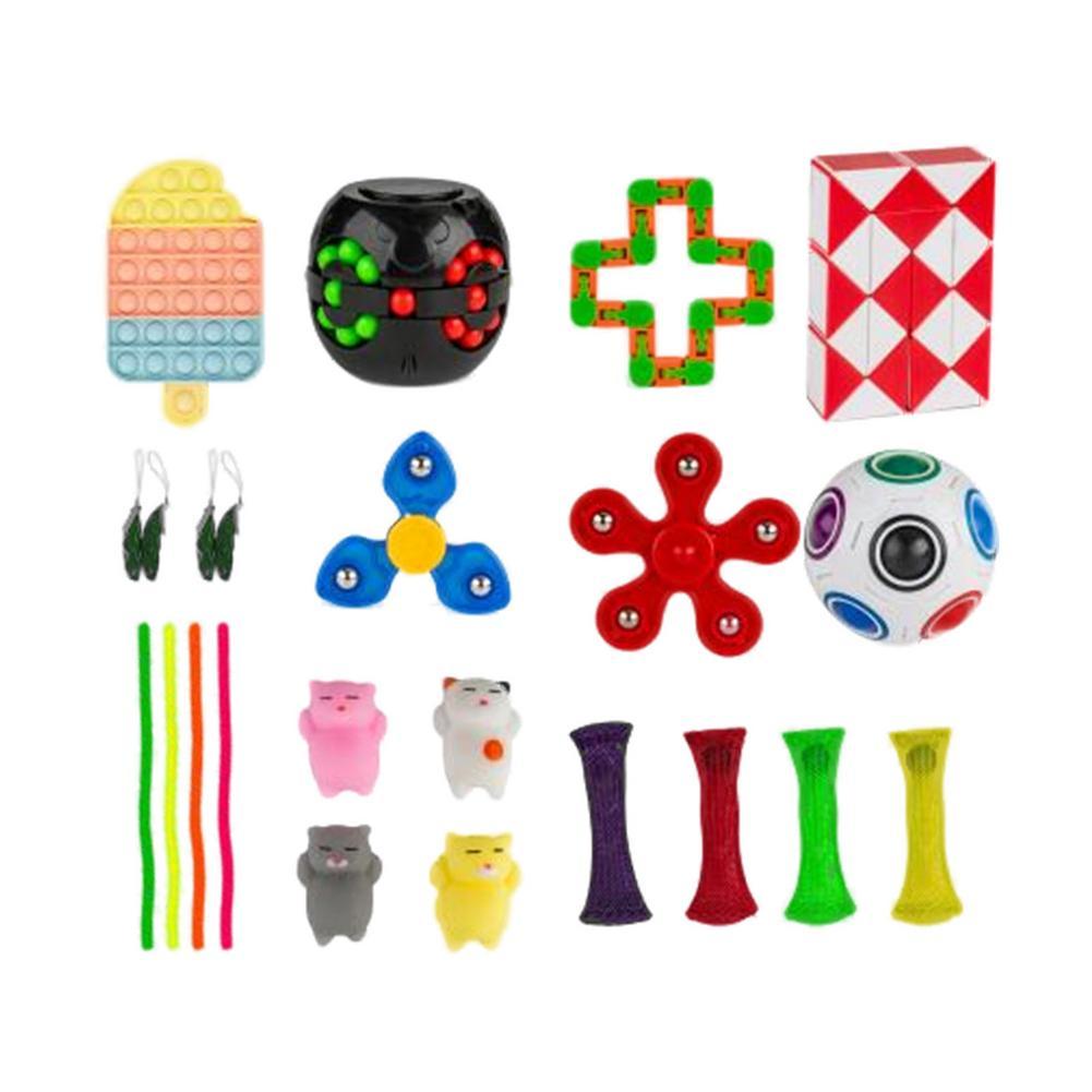 Sensory Fidget Toy Set Decompression Stress Reliever Fidget Toys Simple Dimple Fidget Toy Anti-stress For Children Adult enlarge