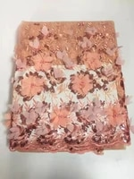 high quality 5yardslot african french lace fabric for sewing cord lace fabricnigerian wedding dress guipure lace fabric