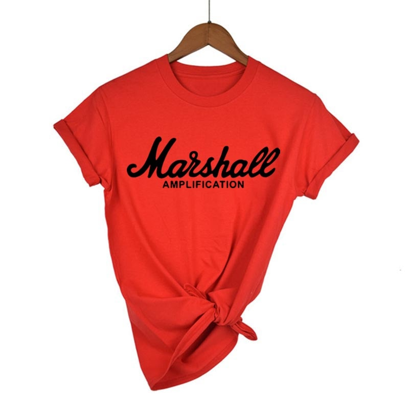 Marshall T Shirt Logo Amps Amplification Guitar Hero Hard Rock Cafe Music Maam Tops Tee Shirts For Men Fashion Harajuku T-shirt