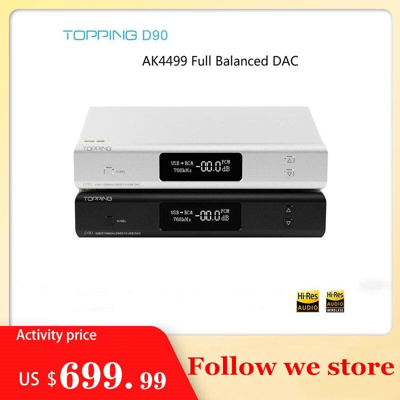 Nieuwe Topping D90 Hifi AK4499 Usb Dac Bluetooth 5.0 DSD512 CAR8675 Ldac Hi-Res Audio Hifi Decoder