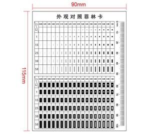 Point Line Gauge Film Soft Ruler Area Stain Comparison Card Highly Transparent PET Ruler for Factory QC Benchmark Test